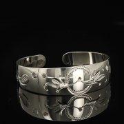 Серебряный кубачинский браслет белый арт.9299