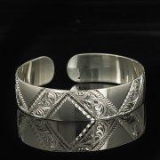 Серебряный кубачинский браслет белый арт.9302