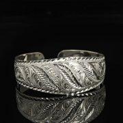 Серебряный кубачинский браслет белый арт.9309