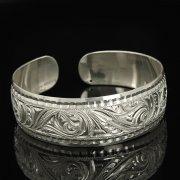 Серебряный кубачинский браслет белый арт.9310