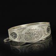 Кубачинский серебряный браслет с филигранью арт.9492