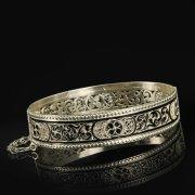Кубачинский серебряный браслет с филигранью арт.9493