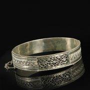 Кубачинский серебряный браслет с филигранью арт.9494