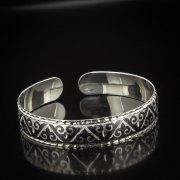 Серебряный кубачинский браслет с чернением арт.5337