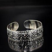 Серебряный кубачинский браслет с чернением арт.5348