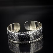 Серебряный кубачинский браслет с чернением арт.5351