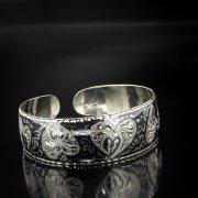 Серебряный кубачинский браслет с чернением арт.5352