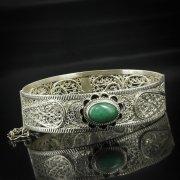 Кубачинский серебряный браслет с филигранью арт.5612