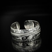 Серебряный кубачинский браслет с чернением арт.5821