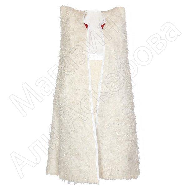 Детская кавказская бурка белая из овечьей шерсти (войлочная)