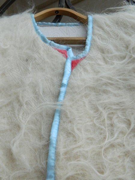 Кавказская бурка белая из овечьей шерсти (войлочная)