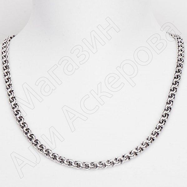 Серебряная цепь Бисмарк 60 см (ширина 0,7 см)