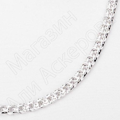 Серебряная цепь Бисмарк 65 см (ширина 0,6 см)