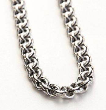 Серебряная цепь Бисмарк 70 см (ширина 0,8 см)
