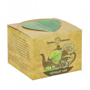 Натуральный черный чай с липой