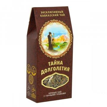 """Эксклюзивный кавказский черный чай с горными травами """"Тайна долголетия"""""""