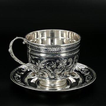 Серебряная чайная пара (160 мл)