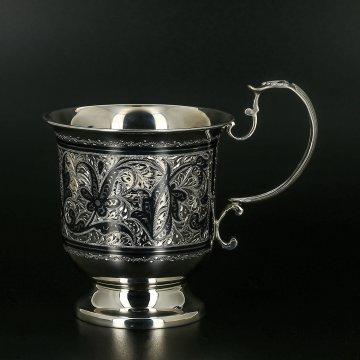Серебряная чашка Кубачи