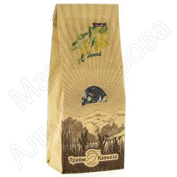 Натуральный чай черный байховый крупнолистовой с добавлением цветков липы