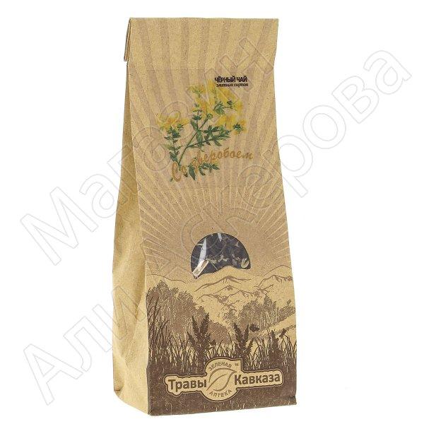 Натуральный чай черный байховый крупнолистовой с добавлением травы зверобоя