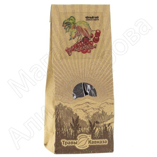 Натуральный чай черный байховый крупнолистовой с добавлением ягод калины