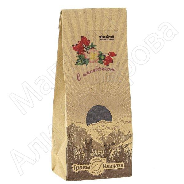 Натуральный чай черный байховый крупнолистовой с добавлением ягод шиповника