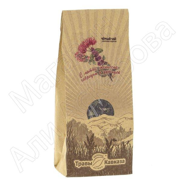Натуральный чай черный байховый крупнолистовой с добавлением трав мяты, мелиссы, чабреца и душицы
