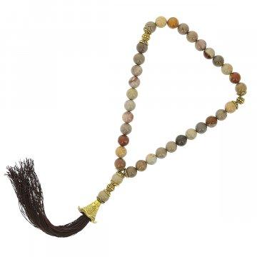 Четки Яшма ручная работа (натуральный камень, 33 бусины)