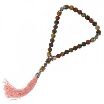 Четки Яшма матовая (натуральный камень, 33 бусины)