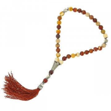 Четки Мукаит ручная работа (натуральный камень, 33 бусины)