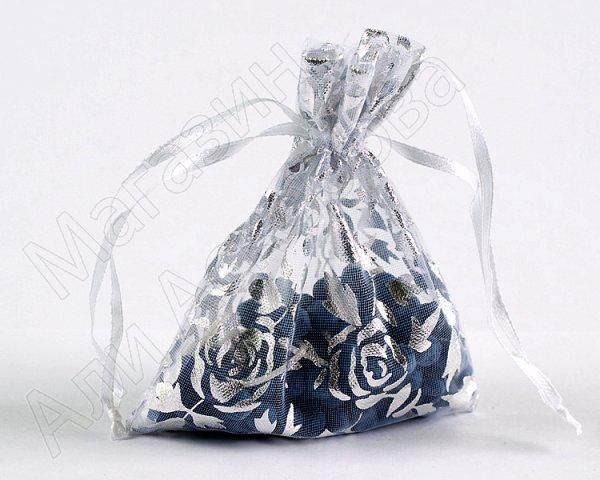 Ароматизированные четки в мешочке 33 бусины темно-синие