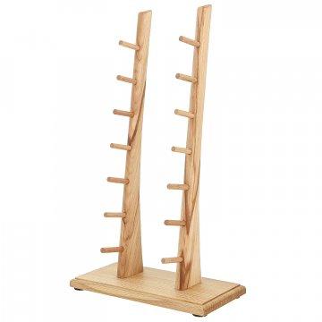Деревянная подставка для 7 складных ножей (бук)