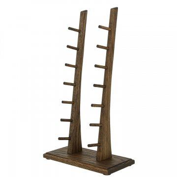 Деревянная подставка для 7 складных ножей (дуб)