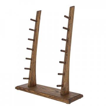 Деревянная подставка для 7 ножей (дуб)
