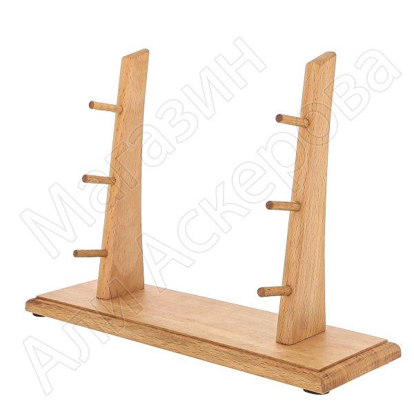 Деревянная подставка для 3 ножей (бук)