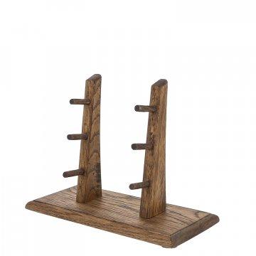 Деревянная подставка для 3 складных ножей (дуб)