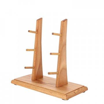 Деревянная подставка для 3 складных ножей (бук)
