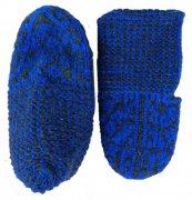 Джурабки-тапочки шерстяные синие