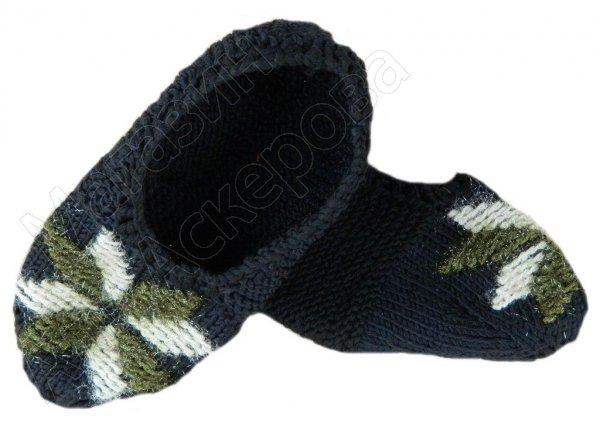 Джурабки-тапочки шерстяные черные