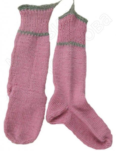 Джурабы-носки шерстяные розовые