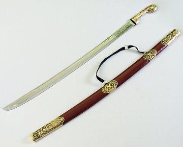 Кавказская шашка Есаул №1 (ножны – латунь и натур.кожа)