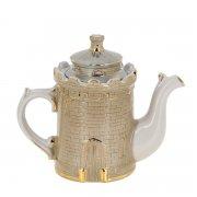 """Фарфоровый чайник """"Крепость"""" ручной работы"""
