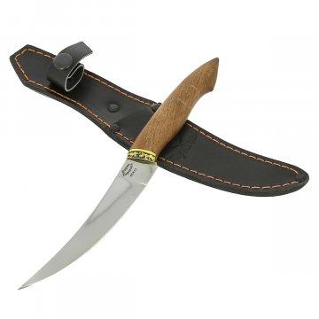 Нож филейный Фин-1 (сталь 65Х13, рукоять орех)