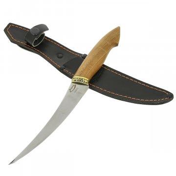 Нож филейный Фин-2 (сталь 65Х13, рукоять орех)