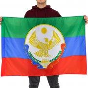 Флаг Республики Дагестан с гербом (70х105 см)