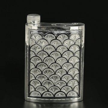 Кубачинская серебряная фляга