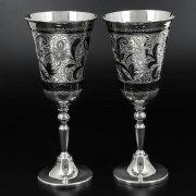 Серебряные фужеры Кубачи ручной работы (2 персоны) арт.10230