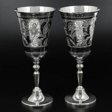 Серебряные фужеры Кубачи 90 мл (2 персоны)