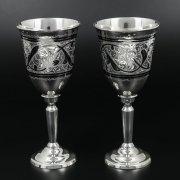 Серебряные фужеры Кубачи ручной работы (2 персоны) арт.10238
