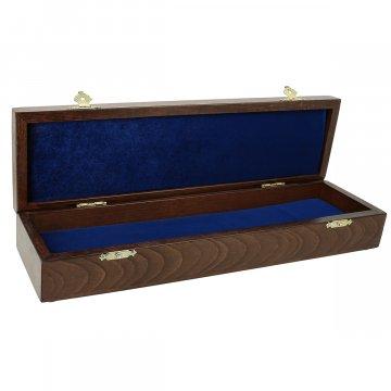 Эксклюзивный деревянный футляр для ножа с ложементом (34х9 см)